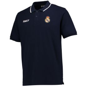 Real Madrid Crest Polo Shirt - Navy - Mens