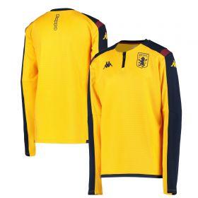 Aston Villa 1/4 Zip Training Top - Yellow - Kids