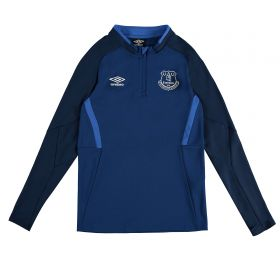 Everton Half Zip Sweatshirt - Dark Blue - Kids
