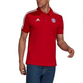 FC Bayern 3 Stripe Polo-Red