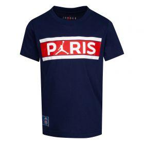 Paris Saint-Germain x Jordan Graphic T-Shirt - Midnight Navy - Older Boys