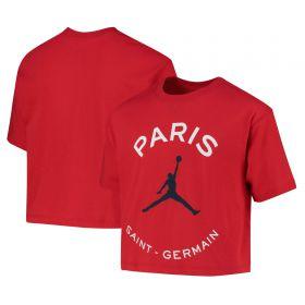 Paris Saint-Germain x Jordan Graphic T-Shirt - Red - Older Girls