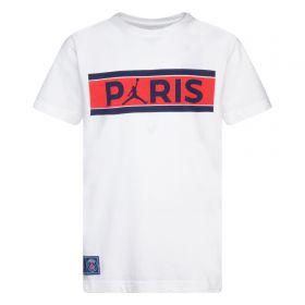 Paris Saint-Germain x Jordan Graphic T-Shirt - White - Older Boys