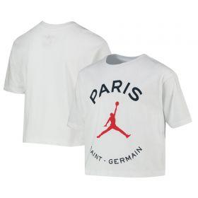 Paris Saint-Germain x Jordan Graphic T-Shirt - White - Older Girls