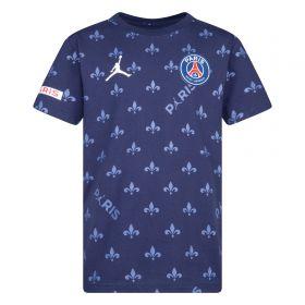 Paris Saint-Germain x Jordan Printed T-Shirt - Midnight Navy - Older Boys