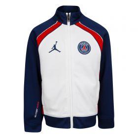 Paris Saint-Germain x Jordan Track Jacket - White - Older Boys