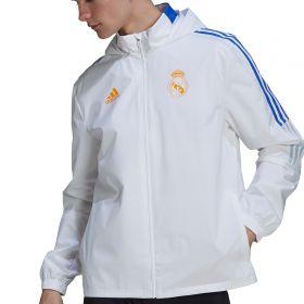 Real Madrid Training All Weather Jacket-White