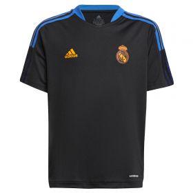 Real Madrid Training Jersey-Black-Kids