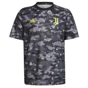 Juventus Pre Match Shirt-Grey-Kids