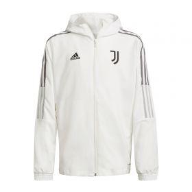 Juventus Training Presentation Jacket-White-Kids