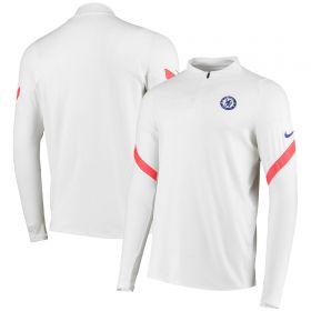 Chelsea Strike Drill Top - White