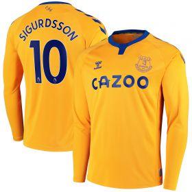 Everton Away Shirt 2020-21 - Long Sleeve with Sigurdsson 10 printing