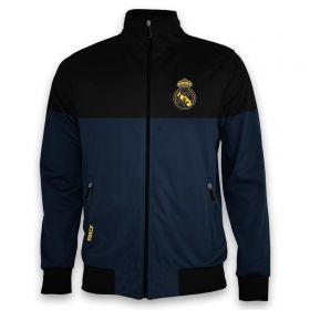 Real Madrid Colour Block Track Jacket - Grey/Black - Mens