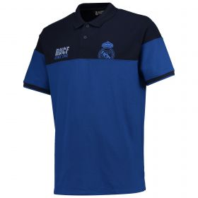 Real Madrid Panelled Polo Shirt - Blue - Mens