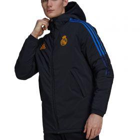 Real Madrid Training Winter Jacket-Black