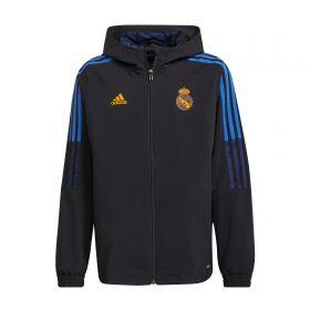 Real Madrid Training Presentation Jacket-Black-Kids