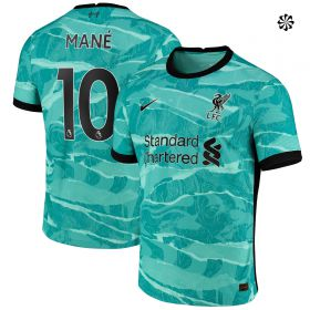 Liverpool Away Vapor Match Shirt 2020-21 with Mané 10 printing