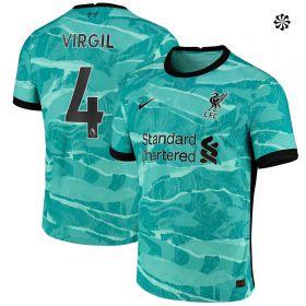 Liverpool Away Vapor Match Shirt 2020-21 with Virgil 4 printing