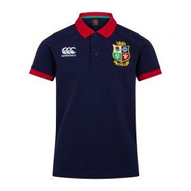 British & Irish Lions Home Nations Polo Shirt - Peacoat - Junior