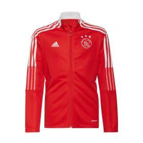 Ajax Training Track Jacket-Red-Kids