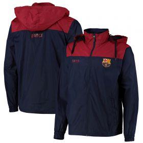 Barcelona Shower Jacket - Red/Navy - Mens