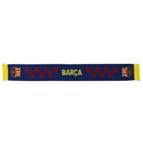 Barcelona Wordmark Tile Scarf - Navy/Red - Adult