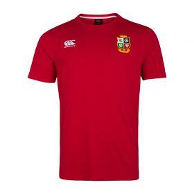 British & Irish Lions Cotton T-Shirt - Red - Mens