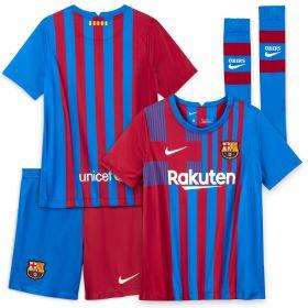 Barcelona Home Stadium Kit 2021-22 - Little Kids