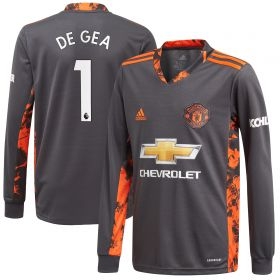 Manchester United Home Goalkeeper Shirt 2020-21 - Kids with De Gea 1 printing