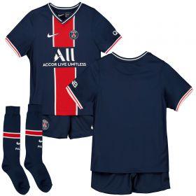 Paris Saint-Germain Home Stadium Kit 2020-21 - Little Kids with Mbappé 7 printing