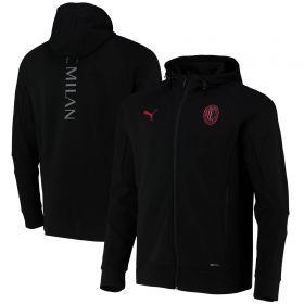 AC Milan Casuals Hooded Jacket-Black