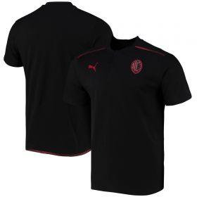 AC Milan Casuals Polo-Black