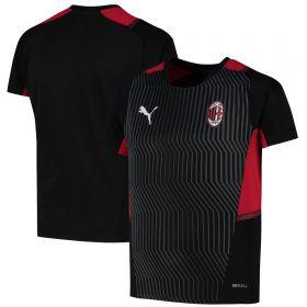 AC Milan Training Jersey-Black-Kids