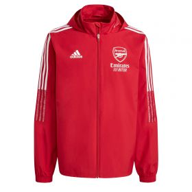 Arsenal Training All Weather Jacket-Red