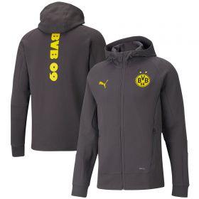 Borussia Dortmund Casuals Hooded Jacket-Grey