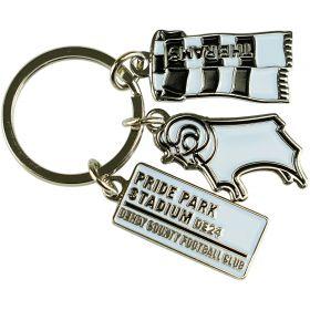 Derby County Charm Keyring
