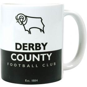 Derby County Mug - Black-White