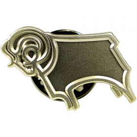 Derby County Sterling Silver Logo Pin