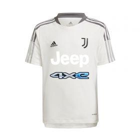 Juventus Training Jersey-White-Kids