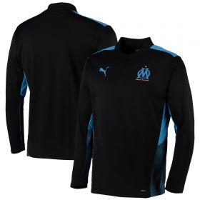 Olympique de Marseille Training 1/4 Zip Top-Black