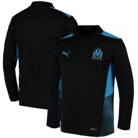 Olympique de Marseille Training 1/4 Zip Top-Black-Kids