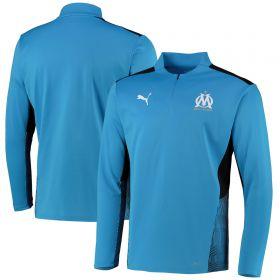 Olympique de Marseille Training 1/4 Zip Top-Sky Blue