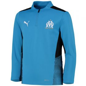 Olympique de Marseille Training 1/4 Zip Top-Sky Blue-Kids