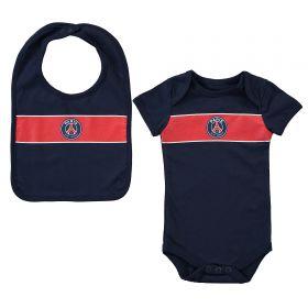 Paris Saint-Germain Sleepsuit And Bib Set - Blue - Baby