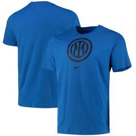 Inter Milan Crest T-Shirt - Blue