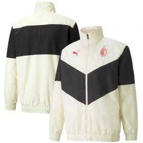 AC Milan Pre Match Jacket-Off White