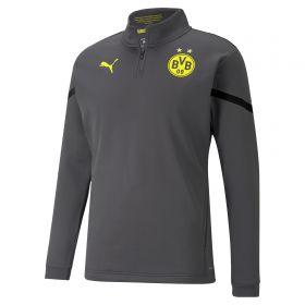 Borussia Dortmund Pre Match 1/4 Zip Top-Grey