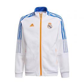 Real Madrid Anthem Jacket-White-Kids