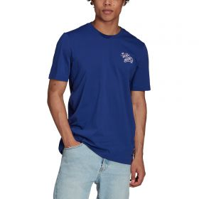 Real Madrid Street Graphic T-Shirt-Blue