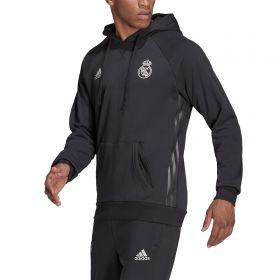 Real Madrid Travel Hoodie-Grey